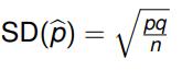 Sample Proportion Standard Deviation Formula