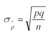 Standard Deviation for Sample Proportion Formula