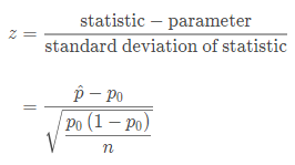 Test Statistic For Proportion