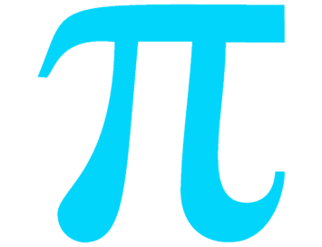 light blue pi symbol