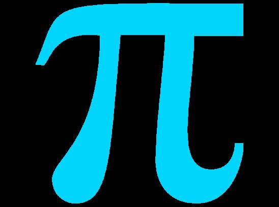 light blue pi symbol