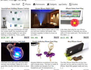 Great Things to Buy Screen Capture